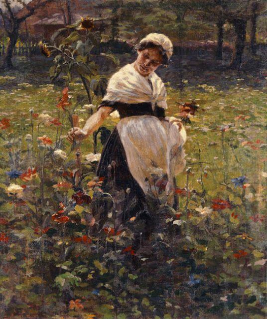 Συμεών Σαββίδης (Simeon Savvidis), Σπουδή χρωμάτων κοντά στο Μόναχο. 1910. Εθνική Πινακοθήκη.