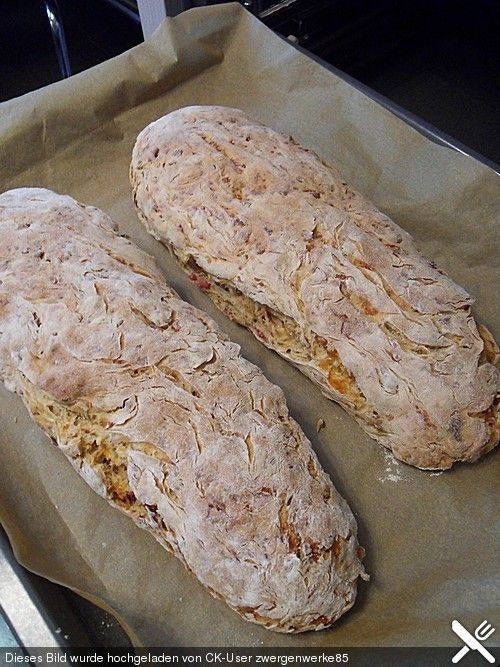 Zwiebel - Käse - Schinken Brot