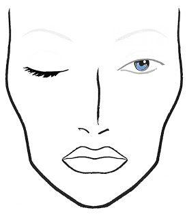 Blank Makeup Face Chart