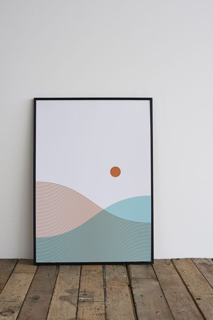 Push the envelope for your landscape-loving friends and send this minimalist print inspired by a trip to the Sands of Morar in Scotland. The framed print is screenprinted by hand in Nottingham, UK, onto specialty paper made in the Lake District.