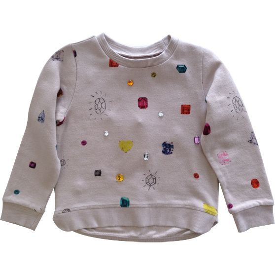 Nonna Bambini - Stella McCartney Kids Primrose Girls Sweatshirt with Jewels, $90.00 (http://www.nonnabambini.com/stella-mccartney-kids-primrose-girls-sweatshirt-with-jewels/)