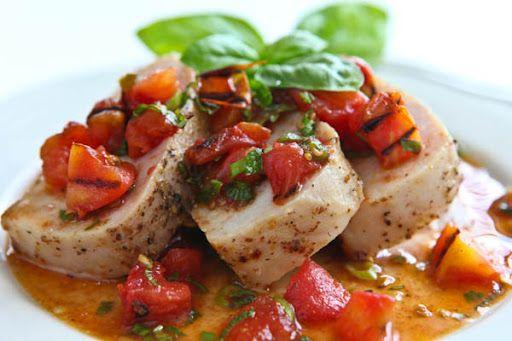 Pork Tenderloin with Warm Grilled Tomato Salsa Recipe on Yummly