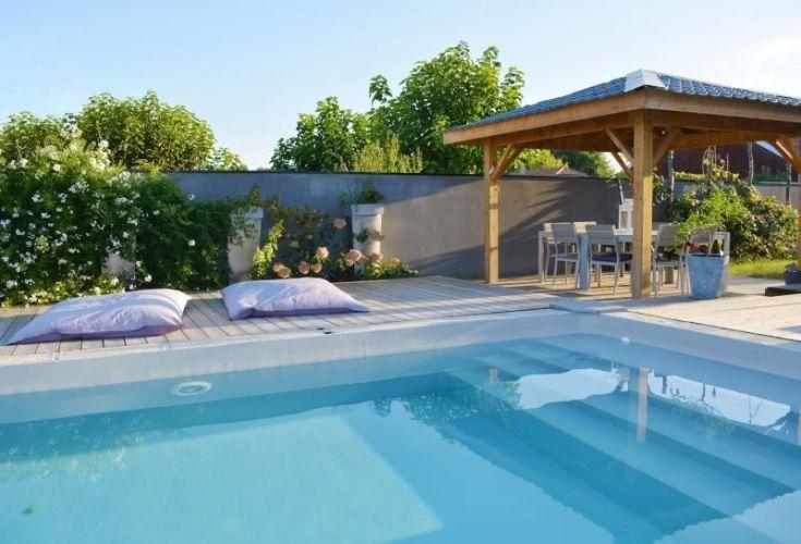 Vente villa contemporaine 6 pieces 171 m2 avec piscine for Camping gironde bord de mer avec piscine