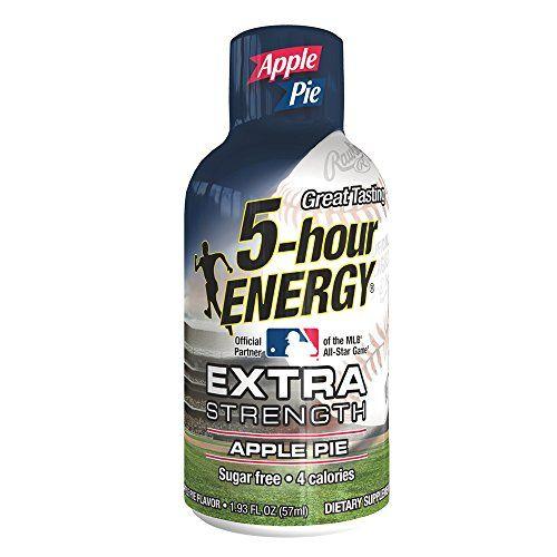 Extra Strength 5-hour ENERGY Shots – Apple Pie Flavor – 24 Count