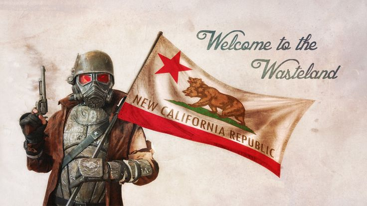Welcome to the Wasteland New California Republic Flag | Bear Flag Museum
