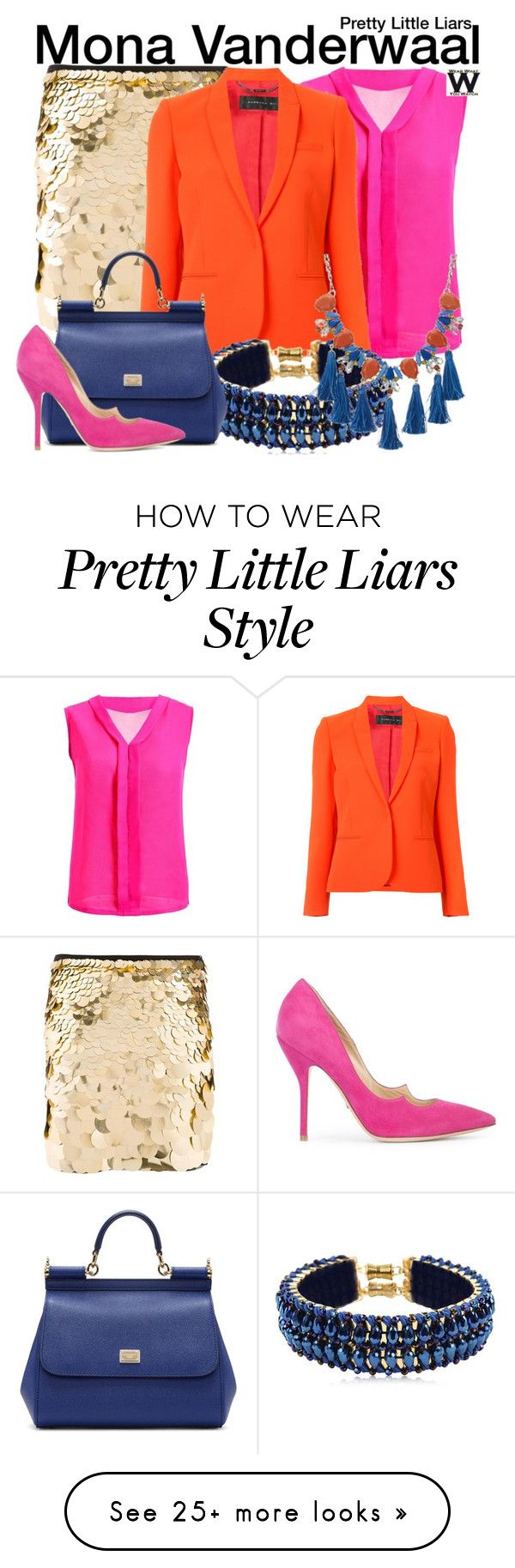 """""""Pretty Little Liars"""" by wearwhatyouwatch on Polyvore featuring Trina Turk, Barbara Bui, Only Child, Dolce&Gabbana, Paul Andrew, Red Herring, television and wearwhatyouwatch"""