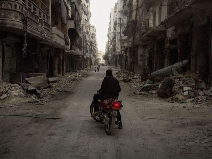 The rebel-held Salahaddin district of Aleppo, Syria, March 2013.
