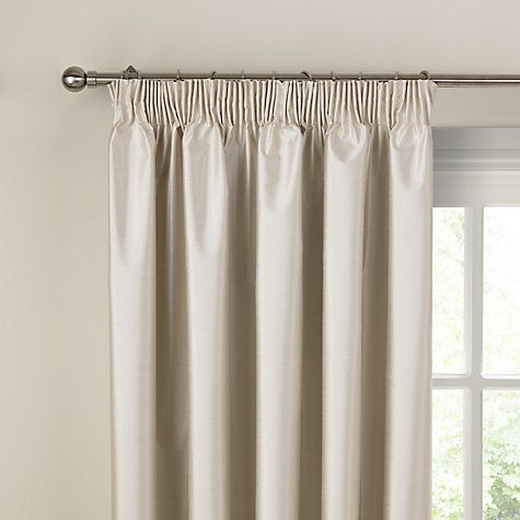 Faux Silk Coated Thermal Blackout Pencil Pleat Curtains