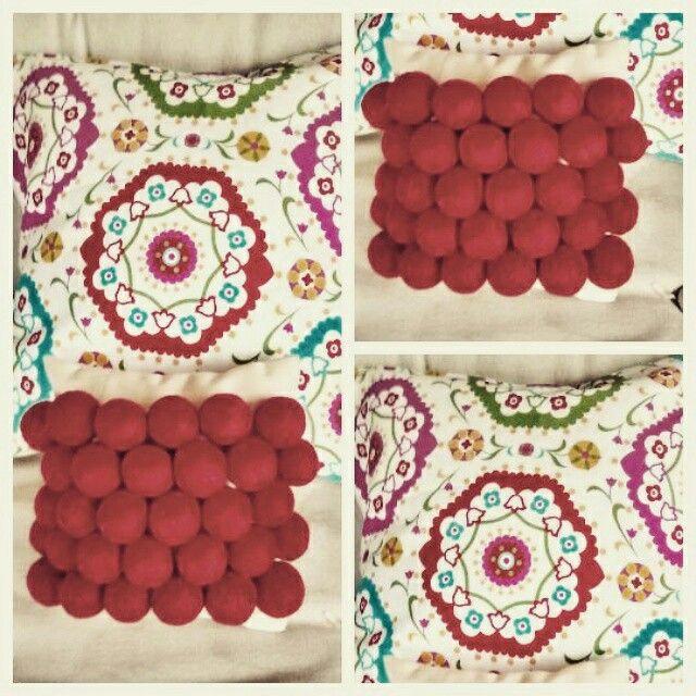 Almohadones rojos