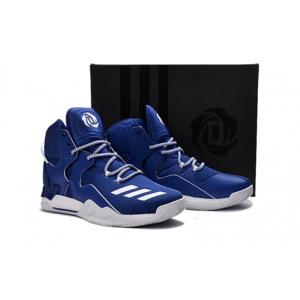cheap blue white adidas d rose 7 mens basketball shoes