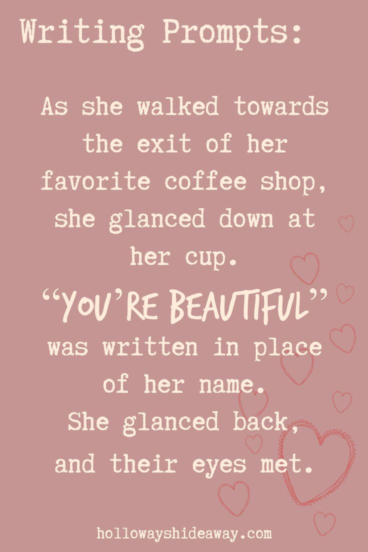 Holiday Writing Prompts Part 3-Dec 2016-As she walked towards the exit of her favorite coffee shop, she glanced down at her cup.
