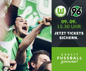 Tickets kaufen für das Spiel VfL Wolfsburg gegen Hannover 96.