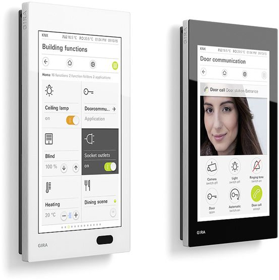 gira shows new g1 compact visually appealing knx room controller at ise 2016 gagdets. Black Bedroom Furniture Sets. Home Design Ideas