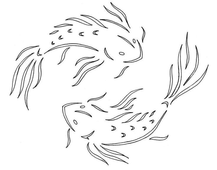59 best halloween pumpkin stencils images on pinterest for Koi fish stencil