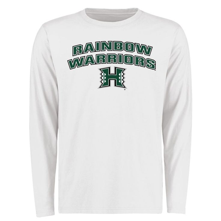 Hawaii Warriors Proud Mascot Long Sleeve T-Shirt - White -