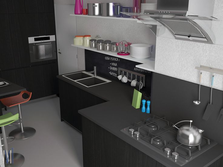 I love the kitchen #13seven #interiordesign #homedesign #arredamentointerni #interiordecoration #furniture #homedecoration #blackkitchen #kitchen