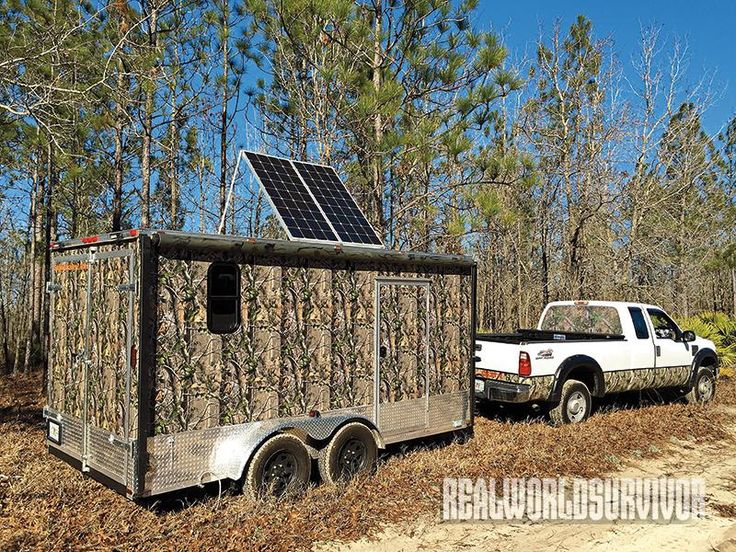 Hitch up and go with a Bug-Out trailer that has all your survival needs.