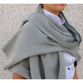Knitted Shawl - Light Grey