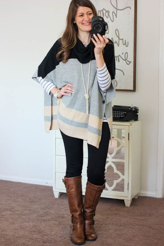 Love the look of this poncho. I'd love to try it. - Blake Poncho Pullover Sweater