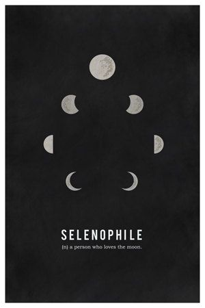 Love Moon Stars Art Print. Selenophile by geektragedy on Etsy