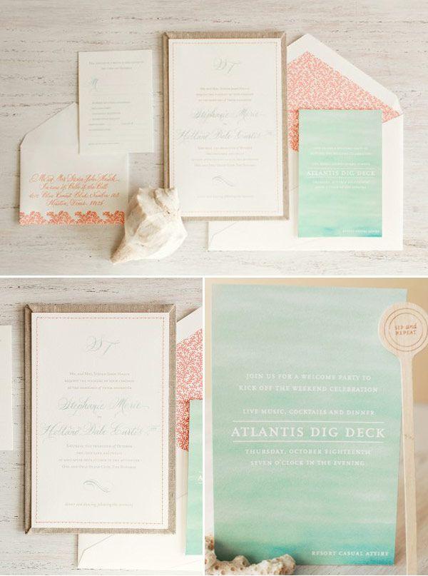 convite-casamento-praia-coral-aquarela