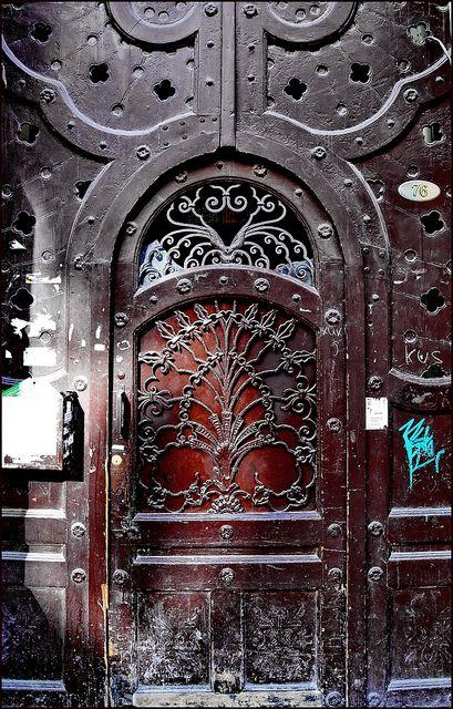 Art nouveau door in Budapest
