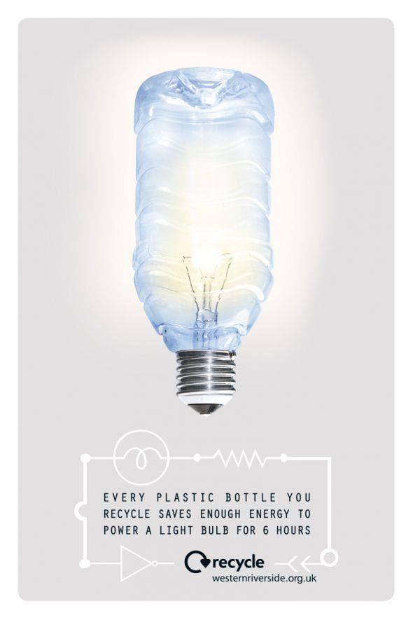 ¿Sabías que cada botella de plástico que reciclas ahorra la energía suficiente para encender un foco durante 6 horas? Se #responsable y #recicla tus botellas plásticas. http://ow.ly/ni3g9
