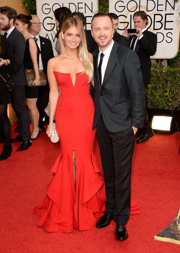 Lauren Parsekian & Aaron Paul | The 23 Cutest Couples At The Golden Globes