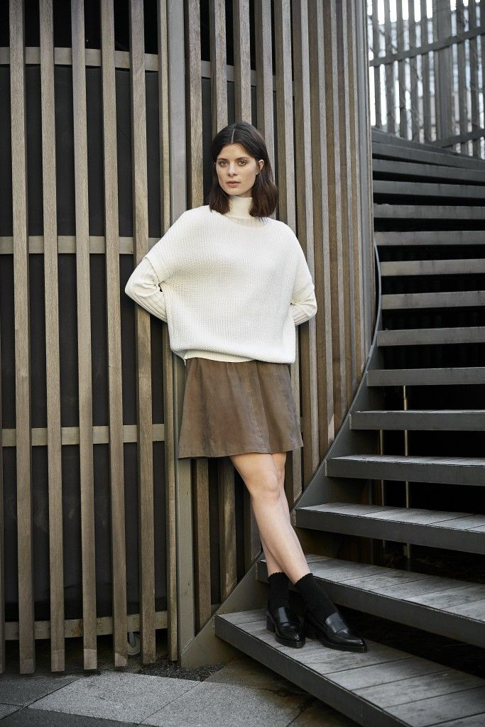 Crack open the lotion and amend the cold winter air's attack on your legs — skirting season is back and we're wasting no time in participating. We might be an early adapter to the changing of the seasons, so we'll be pairing our favorite skirts with chunky knits and socks with everything.