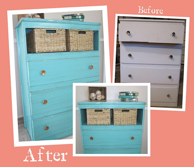 Old Dresser Used For Craft Storage