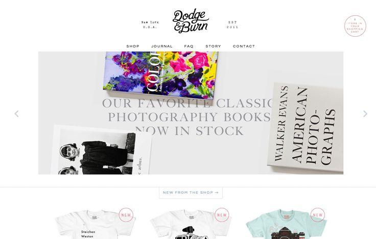 Dodge & Born - minimalist + typography