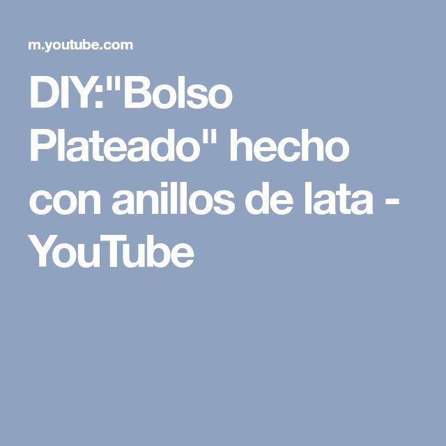 """DIY:""""Bolso Plateado"""" hecho con anillos de lata - YouTube"""