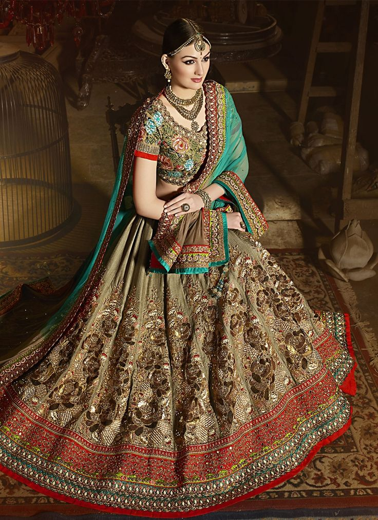 Buy Absorbing Art Silk Sea Green Embroidered Work A Line Lehenga Choli #weddinglehenga #bridallehenga #weddingfashion #occaison #fashion #marriageseason #weddingplanner #fashionable #glamor #glamorous #traditional #traditionalfashion