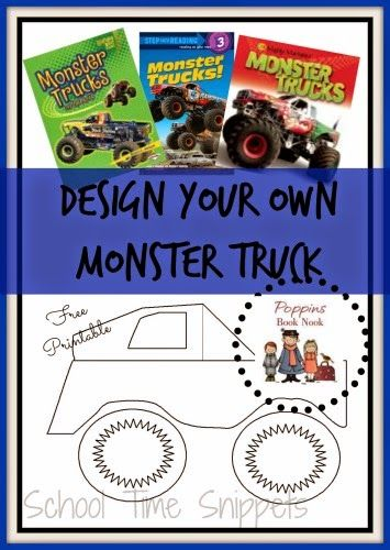 Design Your Own Monster Truck-- includes two printable monster truck templates!