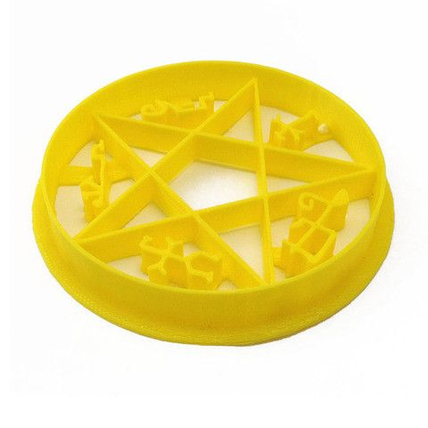 Supernatural Devil's Trap Sigil Cookie Cutter – WarpZone Prints. Supernatural cookies! My life is complete.