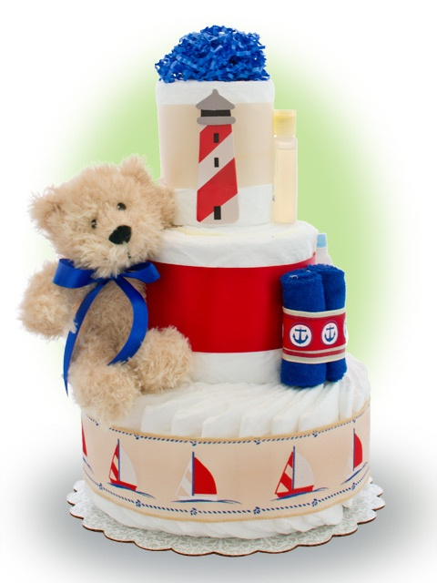 Lil' Sailor 3 Tier Diaper Cake