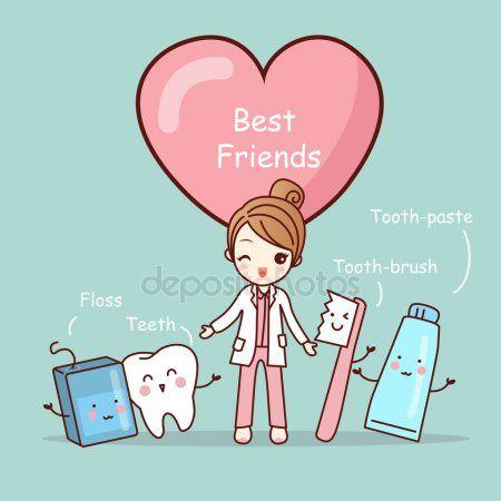 5b91888a5 Melhores amigas de dente bonito dos desenhos animados
