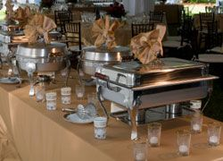 Chafing dishes are the traditional tried and true way to keep food warm and fresh.