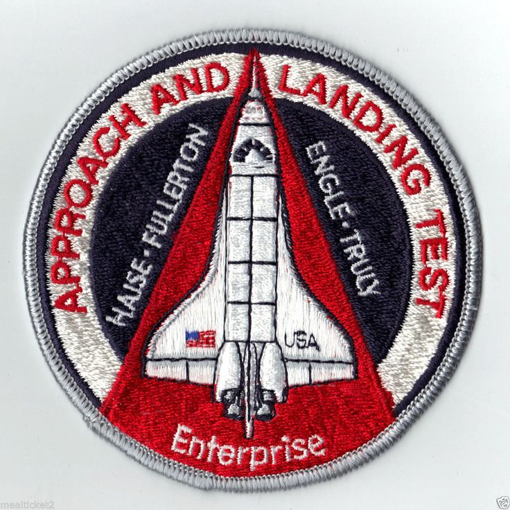 VINTAGE - ALT - APPROACH AND LANDING TEST ENTERPRISE NASA STS SHUTTLE PATCH in | eBay