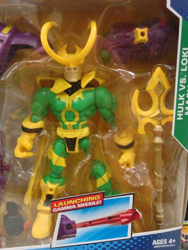Marvel Super Hero Mashers Loki Figure Close-Up