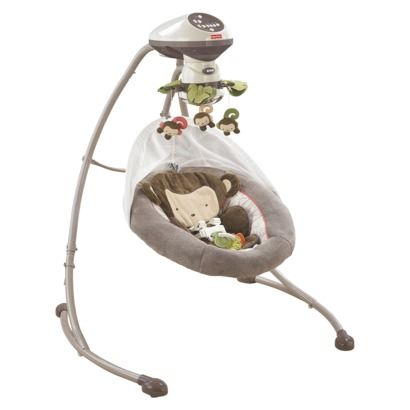 Fisher-Price My Little SnugaMonkey Cradle 'n Swing $155- but free bouncy seat with purchase right now. Sooo- who wants to buy it for me?! <3 lol