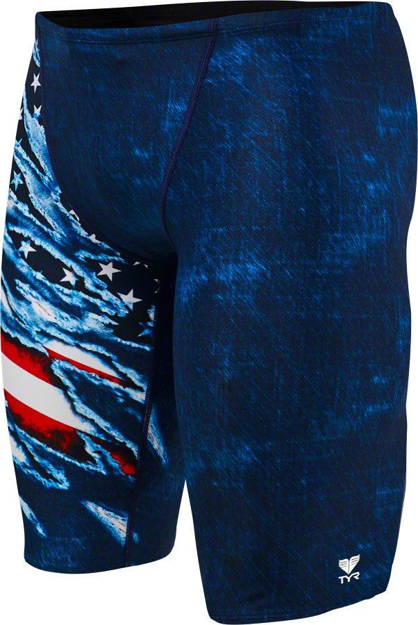586bb6ad97c TYR Live Free Jammer Men s Swimsuit  Red White Blue Size 32 (eBay Link)