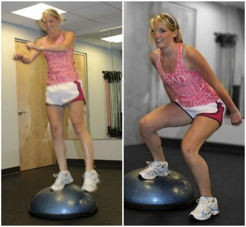 Bosu Ball One Leg Squat: 30 Best BOSU Ball Exercises Images On Pinterest