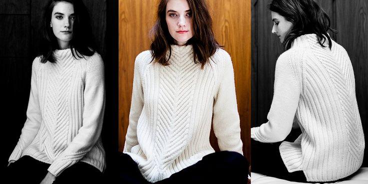 Пуловер в резинку Gevir узором Оленьи рога спицами. Обсуждение на LiveInternet - Российский Сервис Онлайн-Дневников