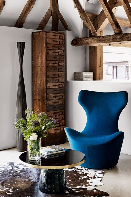 armchair in kent barn conversion in real homes interior design ideas a modern sitting