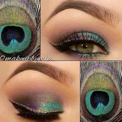 Peacock eyeshadow.  Looks great with hazel eyes, YEA!