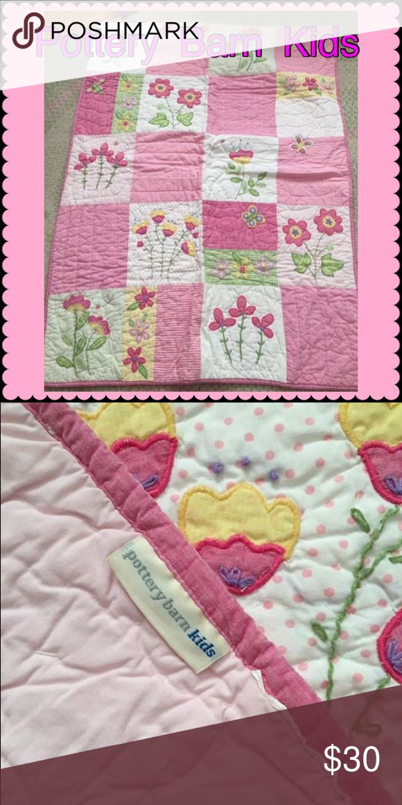 """Pottery Barn Kids Crib/Toddler Quilt Adorable Pottery Barn Kids quilt for crib, toddler bed, or wall hanging. 35"""" x 47"""". No rips or stains. Pottery Barn Kids Other"""