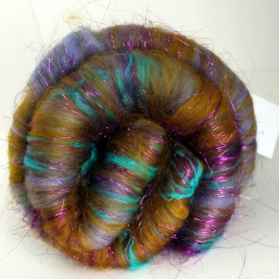 FANCY   26 oz Art Yarn Batt by SpunRightRound on Etsy: Art Yarn