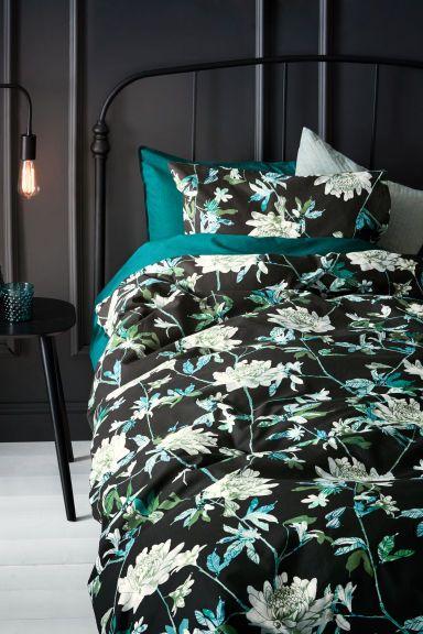 Parure de couette - Noir/vert - Home All   H&M FR