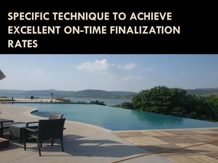 Specific technique to achieve excellent on time finalization rates  Swimming…